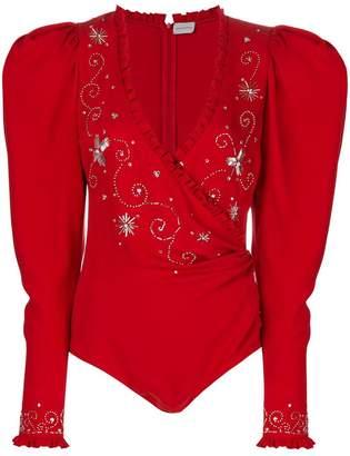 Magda Butrym embroidered bodysuit