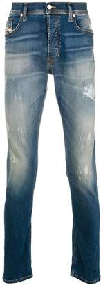 Diesel washed leg distressed jeans