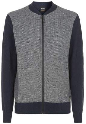 HUGO BOSS Knitted Zip Up Cardigan