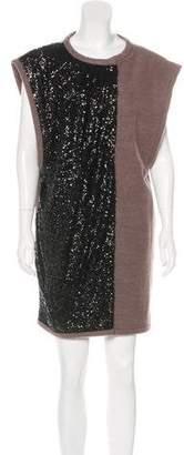 Lanvin Sequined Wool-Blend Vest