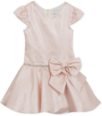 Rare Editions Little Girls Shimmer Drop-Waist Dress