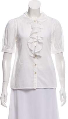 Marc by Marc Jacobs Ruffle Button-Up Top