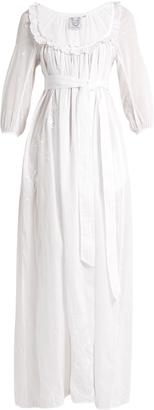 Rosine embroidered cotton-lawn maxi dress