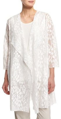 Caroline Rose Rain Lace Sheer Topper Jacket, White $215 thestylecure.com