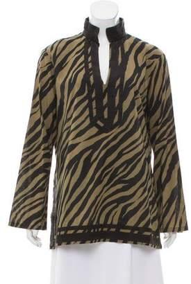 MICHAEL Michael Kors Long Sleeve Zebra Print Tunic