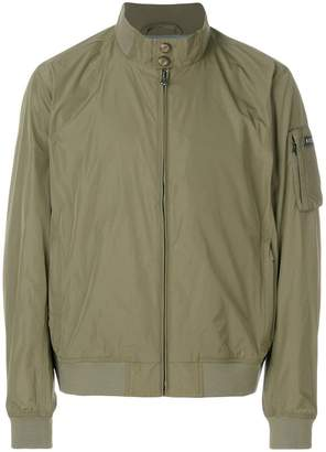 Hackett fitted bomber jacket
