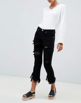 Glamorous ripped boyfriend jeans