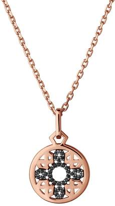 Links of London Timeless Rose Gold and Black Sapphire Pendant