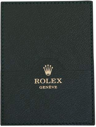 Rolex Leather card wallet