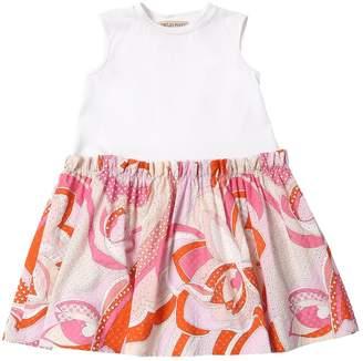 Emilio Pucci Eyelet Cotton Jersey Dress