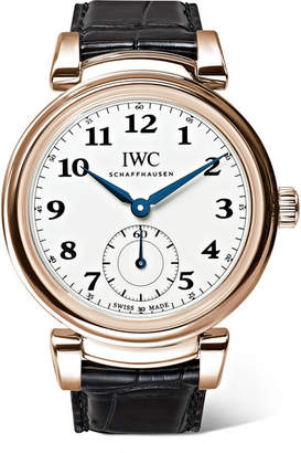 IWC SCHAFFHAUSEN - Da Vinci Automatic 40mm 18-karat Red Gold And Alligator Watch - Rose gold