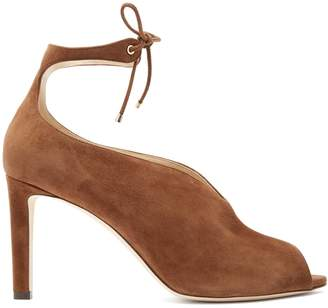 Jimmy Choo Sayra 85 ankle-tie suede pumps