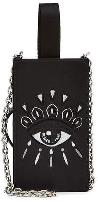 Kenzo Embroidered Shoulder Bag with Chain