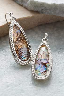 Soft Surroundings Oval Abalone Earrings