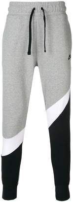 Nike black and white logo track pants