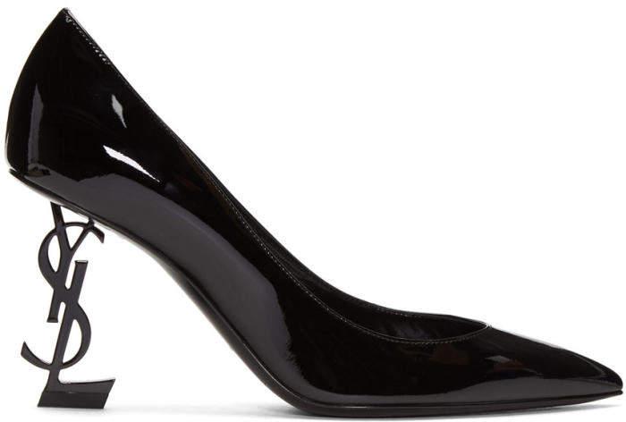 Saint Laurent Black Patent Opym Heels