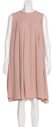 Co Sleeveless Pleated Midi Dress