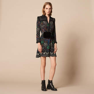 Sandro Short printed shirt dress
