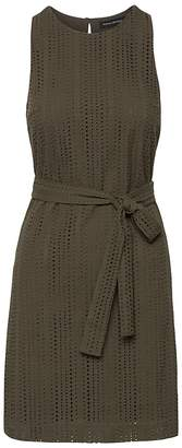 Banana Republic Eyelet Shift Dress with Tie at Waist