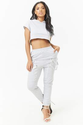 Forever 21 Cropped Hoodie & Sweatpants Set