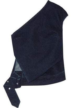 Marques Almeida Marques' Almeida Belted One-Shoulder Denim Top