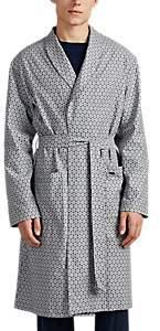Hanro Men's Loran Floral Cotton Twill Robe - Gray