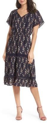 19 Cooper Floral Lace Midi Dress