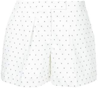 Jil Sander Navy micro-print pleated shorts