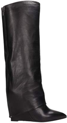 The Seller Black Leather Boots