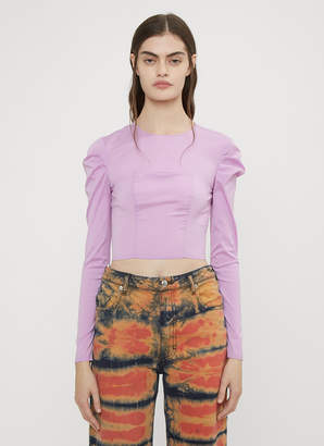 Eckhaus Latta Gather Sleeve Bodice Top in Lilac