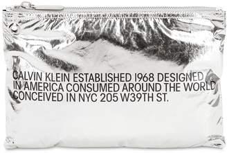 Calvin Klein Small Logo Metallic Pouch