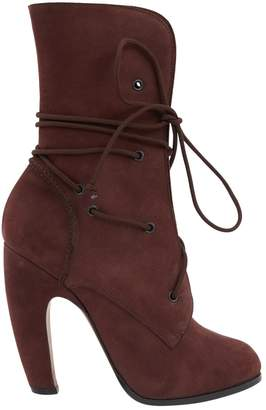 Nicole Brundage Brown Suede Ankle boots