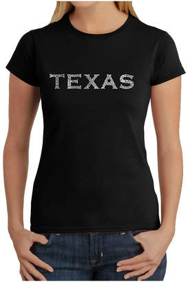 The Great LOS ANGELES POP ART Los Angeles Pop Art Cities Of Texas Graphic T-Shirt