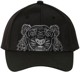 Tiger Embroidered Nylon Canvas Hat $95 thestylecure.com