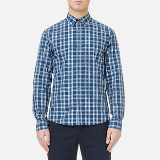 Michael Kors Men's Slim Fit Yarn Dyed Madras Check Shirt
