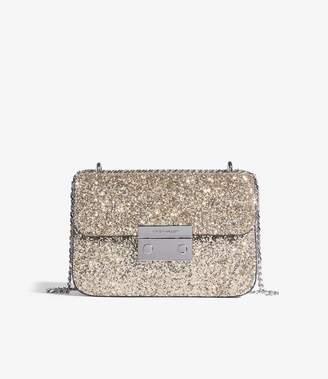 Karen Millen Glitter shoulder Bag
