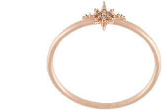 Sydney Evan 14kt rose gold mini Starburst diamond ring