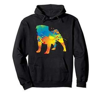 Rainbow Color Splash Pug Birthday Pug Hoodie