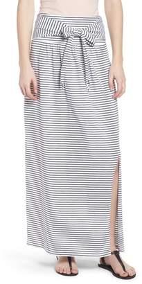 Caslon Tie Front Cotton Maxi Skirt