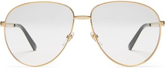 Gucci Aviator metal glasses with Web