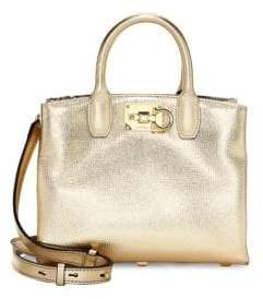 Salvatore Ferragamo Mini Studio Leather Top Handle Bag