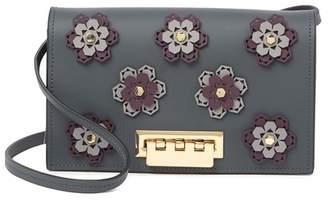 Zac Posen Earthette Hex Floral Leather Crossbody Bag