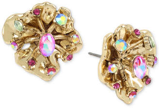 Betsey Johnson Gold-Tone Flower Stud Earrings