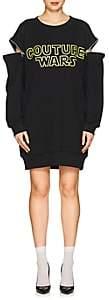 "Moschino Women's ""Couture Wars"" Cotton Sweatshirt Dress-Black"