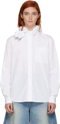 Craig Green White Poplin Hooded Shirt