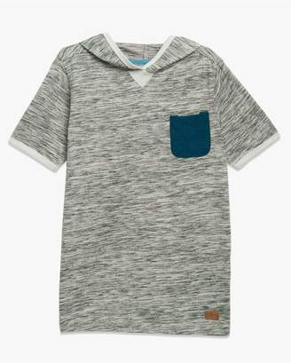 7 For All Mankind Kids Boys S-Xl Short-Sleeve Crew Neck Tee In Textured Grey