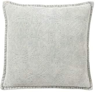 Pottery Barn Chenille Jacquard Pillow Cover - Light Blue
