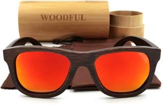 woodful Bamboo Polarized Sunglasses-Brown Color Wooden Glasses with Sunglasses Packaging (, Polarized)