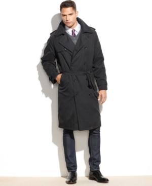 London Fog Iconic Belted Trench Raincoat