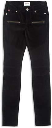 Hudson Girls' Velvet Moto Skinny Jeans - Big Kid